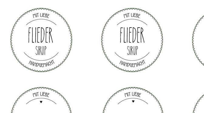 Sirup Etiketten