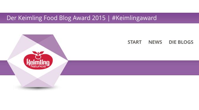 Keimling Award 2015, wir sind dabei