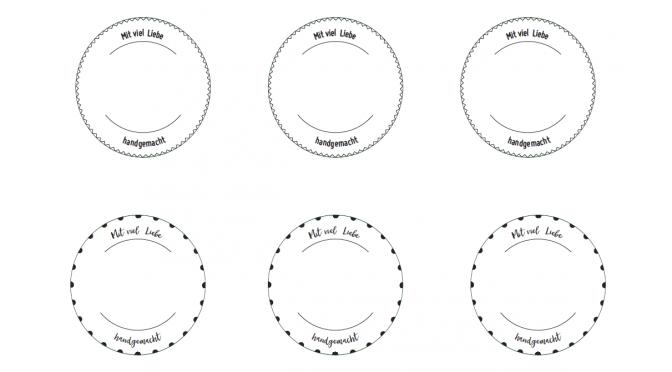Blanko-Etiketten zum selbst beschriften