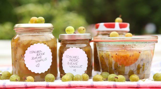 Stachelbeer-Birne-Vanille, lecker!