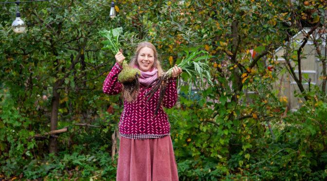 Gartenrundgang, Selbstversorgung und Pilze sammeln
